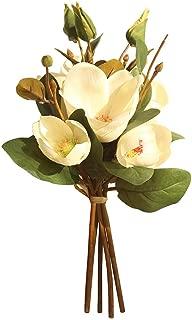 Magnolia Artificial Fake Flower, Elevin(TM) Artificial Fake Flowers Leaf Magnolia Floral Wedding Bouquet Party Home Decor (B)