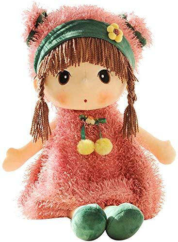 45cm Bambola di Pezza Stoffa, Peluche per Bambina Bambola Adorabile Bambola Dolce Ragazza con Trecce Intrecciate con Cappuccio Animale, Carino Accesso