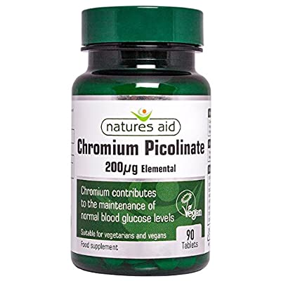 Natures Aid Chromium Picolinate Tablets 200ug Pack of 90 from NAVX2