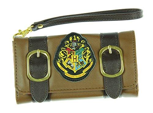 Harry Potter Hogwarts - Monedero Plegable (24 cm), Color marrón