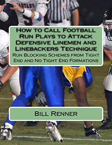 How to Call Football Run Plays to Attack Defensive Linemen and Linebackers Technique (English Edition)