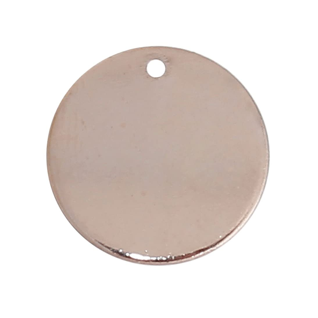 20 Rose Gold Plated Copper Round Circle Stamping Blank Tags for Metal Stamping 15mm or 5/8 Inch Diameter