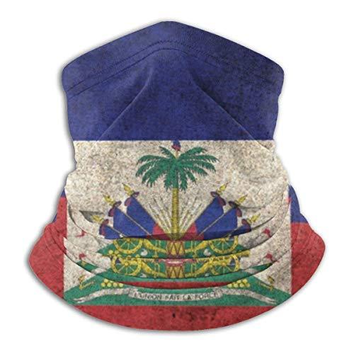 Pasamontañas con diseño de bandera de Haití, sin costuras, 3D, bandanas de media cara