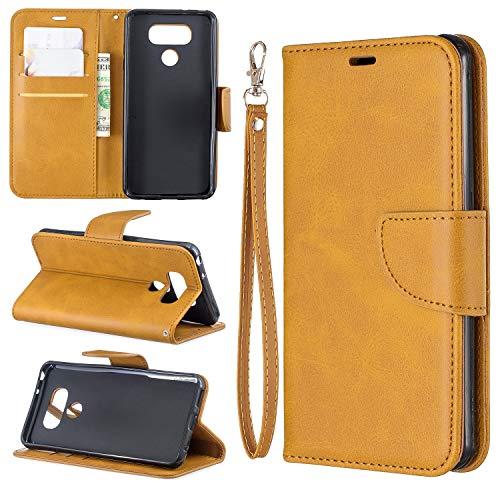 Cubierta de la caja del tirón del teléfono Estuche para LG G6 Multifuncional Cartera Teléfono Móvil Caja de cuero Premium Color Sólido PU Caja de cuero, Titular de la tarjeta de crédito Función Funció