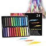 Haarkreide, 24 Farben Temporäre Haarfarbe, Haar Colorationen, Colorful Professional Waxy Haarfarbe...