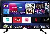 Huidi 80 cm (32 Inches) HD Ready Smart LED TV HD32D1M18 (Black) (2018 Model)