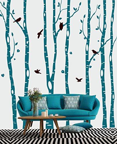 Livingstyle & Wanddesign Wandtattoo Wandaufkleber Wandsticker großer Birkenwald XXL Wandsticker für eine große Wohnzimmerwand