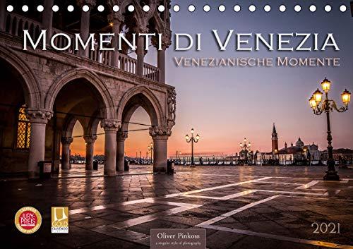 Momenti di Venezia - Venezianische Momente (Tischkalender 2021 DIN A5 quer)