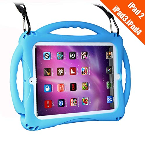 TopEsct iPad 2 Funda Niños Shock Proof Material Silicona Lightweight Kids Protector Cover Case con Manija para Apple iPad 2,...