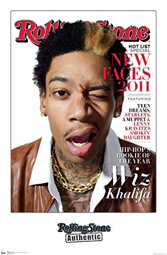 Trends International Rolling Stone Magazine - Wiz Khalifa 11 Wall Poster, 22.375' x 34', Premium Unframed Version