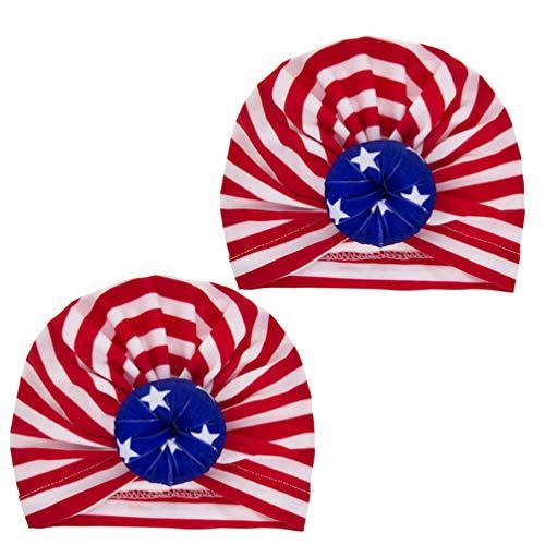NUOBESTY 2 Piezas Sombreros de Turbante para Bebés Nudo de...