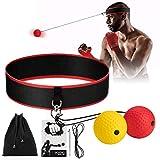 CNNIK Reflex Ball Boxe, Fascia per Capelli Regolabile con 2 Palla Riflessa, Migliora Le Reazioni di velocità, Precisione e Coordinazione Occhio-Mano, Ideali per Adulto e Bambino