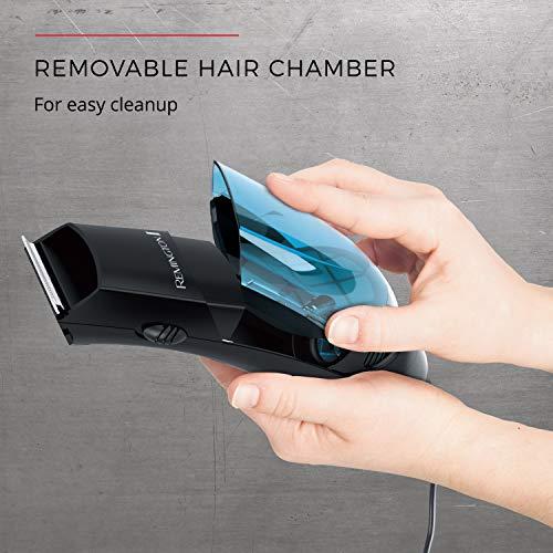 Remington Vacuum Trimmer and Hair Clipper, 18-Piece Vacuum Haircut Kit, Easy Cleanup, HKVAC2000B