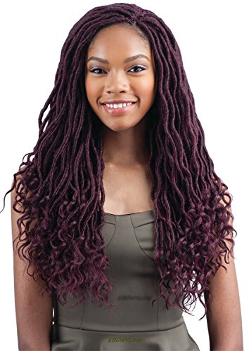 FreeTress Goddess Loc 18' Synthetic Crochet Braiding Hair (1, Pack of 4)