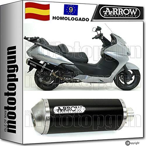 ARROW TUBO DE ESCAPE HOMOLOGADO MAXI RACE-TECH CON FONDO INOX EN ALUMINIO NEGRO COMPATIBLE CON HONDA SILVER WING 600 2001 01 71662AON