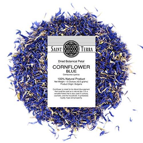 Dried Cornflower Blue Petals