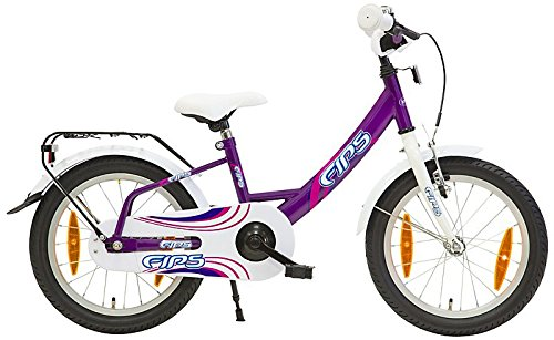 16 Zoll Fips Kinderrad Kinderfahrrad ab 4 Jahren ab 110 cm, 4 Farbvarianten, Farbe:Violett / Weiß
