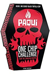 Try the World's Hottest Chip made with the hottest chile pepper on the planet, the Carolina Reaper. Don't say we didn't warn you. Do you dare take the #OneChipChallenge to earn your place on Paqui's Wall of Infamy? Contains No Artificial Ingredients,...