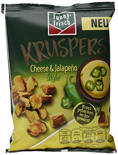 funny-frisch Kruspers Cheese & Jalapeno Style, 10er Pack (10 x 120 g)