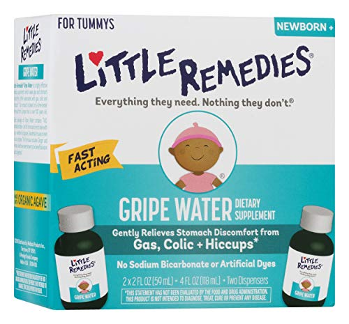 Little Remedies Gripe Water, Safe for Newborns, (2 Count of 2 Fl Oz) 4 Fl Oz