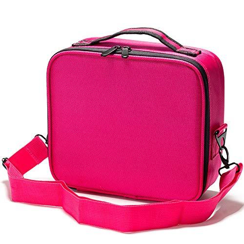 QFERW Estuche cosmético Nueva bolsa de almacenamiento con correa ajustable de viaje resistente al agua Estuche cosméticomaleta de moda, negro sin correa