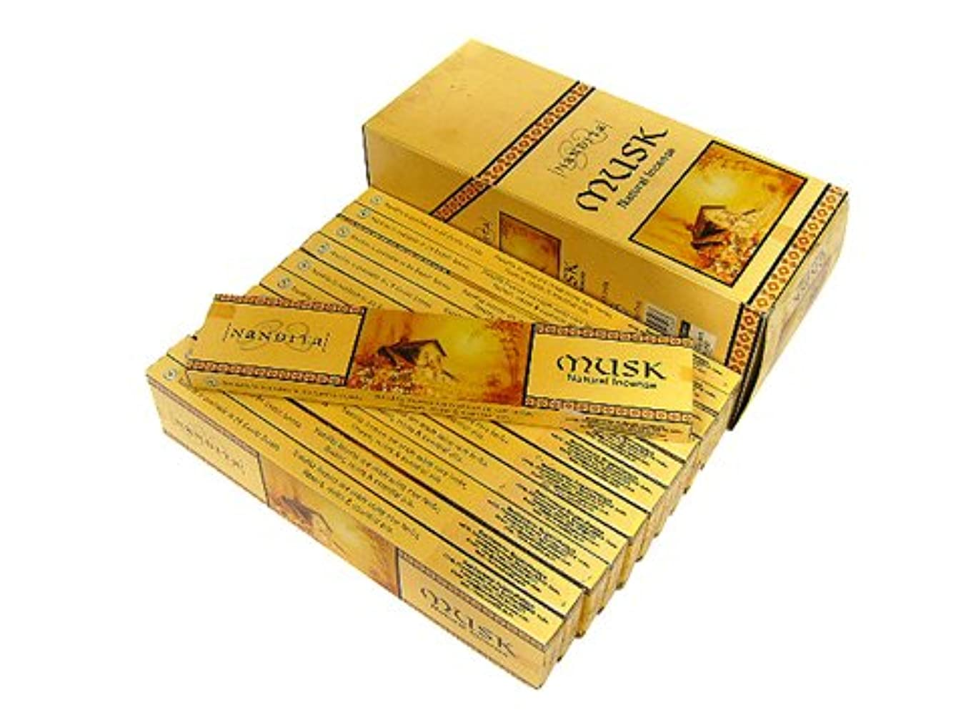 小麦粉寛容な引き出しNANDITA(ナンディータ) ムスク香 スティック MUSK 12箱セット