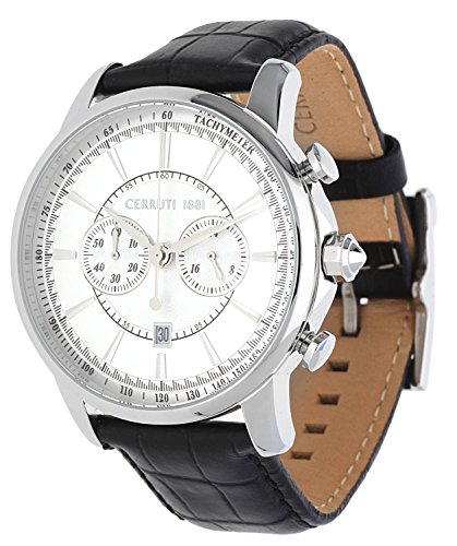 Cerruti Herren Armbanduhr Chronograph schwarz CRA073A212H