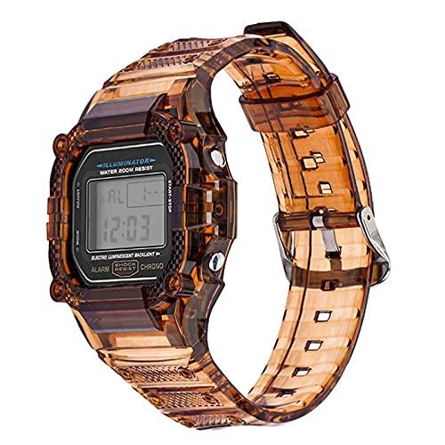 PZZZHF Caja de Resina TPU Caja de Reloj para CASIO G-Shock DW-5600 GW-M5610 M5600 GLX-5600 Reemplazo de reemplazo de la Banda de muñeca Accesorios (Band Color : Coffee, Band Width : 5610)