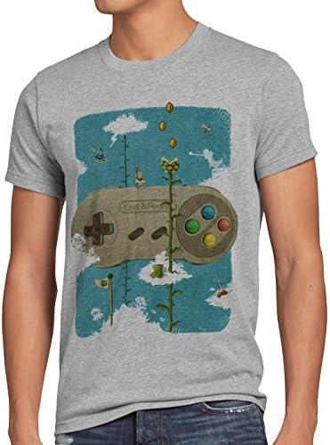16-bit Nostalgia Camiseta para Hombre T-Shirt SNES Mario Super Kart 8-bit Yoshi