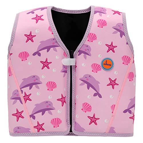 Swimbubs Chaqueta de natación para niños Chaleco de Flotador para natación Ayuda a la flotabilidad (3-6 años, Pink Dolphin)