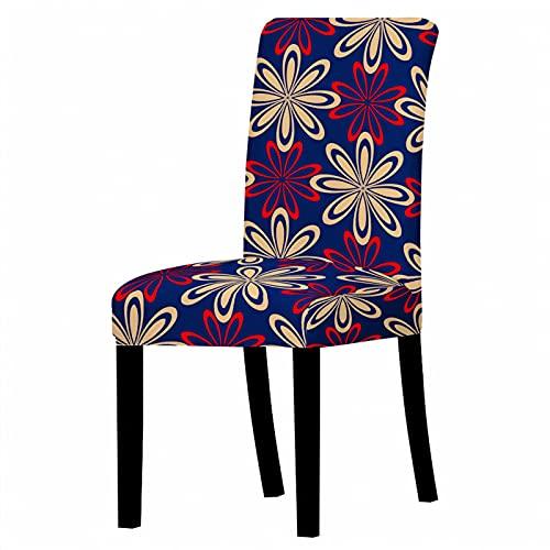 3D Flower Series Elastic Dining Chair 6-teiliger Stuhlbezug Einfacher Haushaltsbezug rutschfest