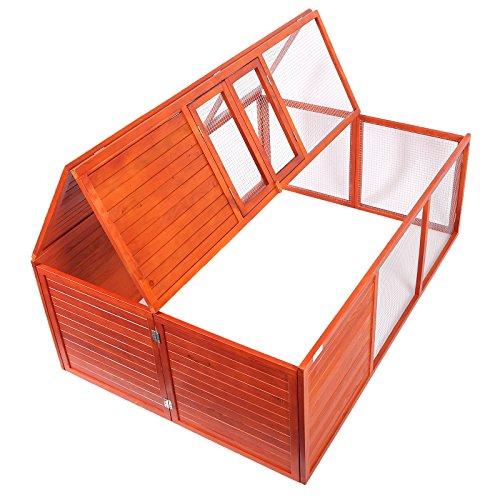 WilTec Enclos Pliable pour Petits Animaux Cage de Lapin Clapier Enclos extérieur