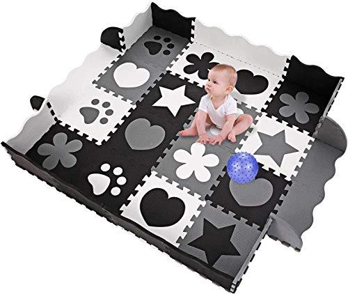 OUTCAMER Spielmatte Baby Puzzlematte eco Krabbelmatte Puzzle Schaumstoffmatte Babymatte Spielmatte Eva Matte für Baby 40 Stücke
