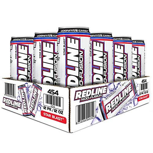 VPX Redline NOO-Fusion - Carbonated Preworkout & Cognitive Enhancing - Sports Nutrition Energy Drink with Caffeine, NOO-Fuel, Super Creatine, Amino Acids - 12 x 12 Fl Oz Cans (Star Blast)
