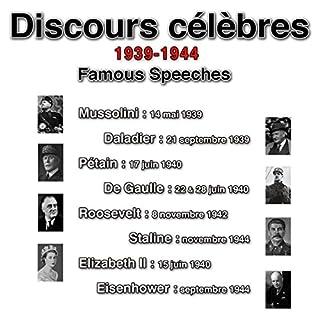 Couverture de Discours historiques du XXe siècle 1939-1944 (Tome 1 : 1939-1940)