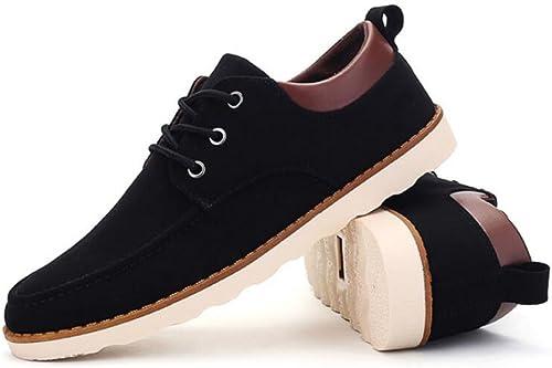 GAOLIXIA Herren Freizeitschuhe Frühling Sommer schnüren Sich britische Flache Schuhe Business Casual Schuhe Schwarzbraun