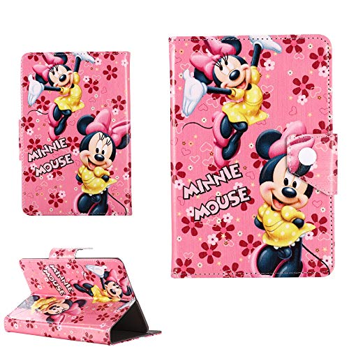 Disney World Cover - Funda para Kindle Fire 7, Fire HD 8, Fire HD 10, Disney World Cover (todas las tabletas Amazon de 8 pulgadas, Minnie Mouse