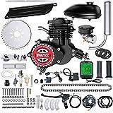 IMAYCC 80cc Bicycle Engine Kit 2-Stroke Electric Motorbike kit Fit for 26' 28' Bikes 2-Stroke Petrol Gas Bicycle Motor Kit (Black)