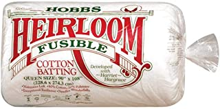 Hobbs Heirloom Fusible Blend: 90 x 108in (Queen), Cotton, White