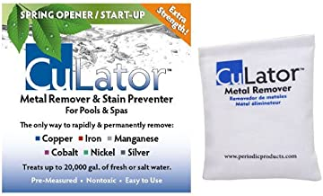 CuLator Metal Eliminator and Stain Preventer for Pools and Spas Spring Opener--1 Treatment