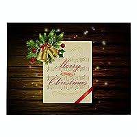 ランチョンマット 綿 麻 4枚セット 北欧 クリスマスシリーズ プレースマット グリーンプリント シートミュージック ランチマット 華やか卓上飾り 高温耐性滑り止め防しわ 西洋料理マット コーヒーマット家庭 レストラン 用 贈り,32X42cm