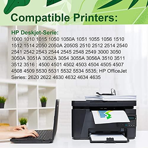 DOUBLE D Cartucho de Tinta remanufacturado 301XL para HP 301 XL para HP DeskJet 1000 1050 2050 2050A 2540 3000 3050 3050A 3510 Envy 4500 4502 5530 OfficeJet 2620 4620 4632 (1 Negro, 1 Color)