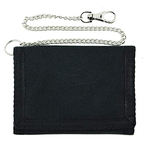 Mil-Tec - Portafoglio con catena di sicurezza, misura piccola, colore: Nero