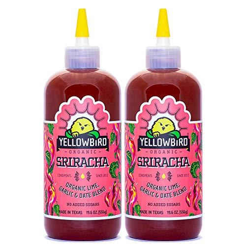 Organic Sriracha Hot Sauce by Yellowbird | Plant-Based, Gluten Free, Non-GMO | Homegrown in Austin | 19.6 oz (2-Pack)