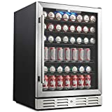 Kalamera 24' Beverage Refrigerator 175 Can Built-in Single Zone Touch Control