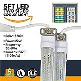 5FT LED Refrigeration Cooler Lights - LED Powered Double-Sided Walk-in Cooler Lights - (UL + DLC) - (25 Pack)