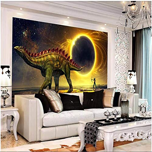 Wallpaper, Comic-Kinder, Benutzerdefinierte Dinosaurier Surreale Planetenwand, 366 Cm (B) X 254 Cm (H)