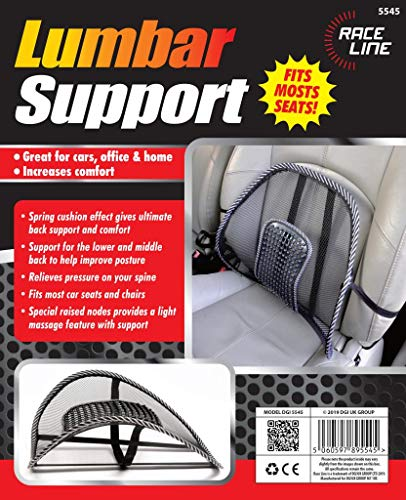 URBANESSENTIALS Air Flow Lumbar Support Cushion for Car Seat or Chair Back Rest