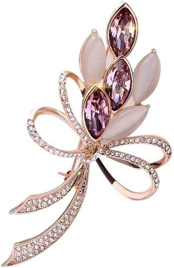 KLHHG Crystal Brooch Pearl Pins New arrival Fees free Party Fl Wedding Jewelry