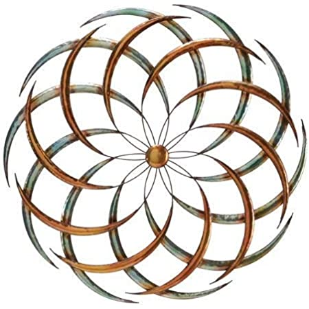 Amazon Com Bellaa 27239 Metal Wall Art Big Bang Sun Decor Seed Of Life Sacred Geometry Sculpture Multi 24 D Kitchen Dining